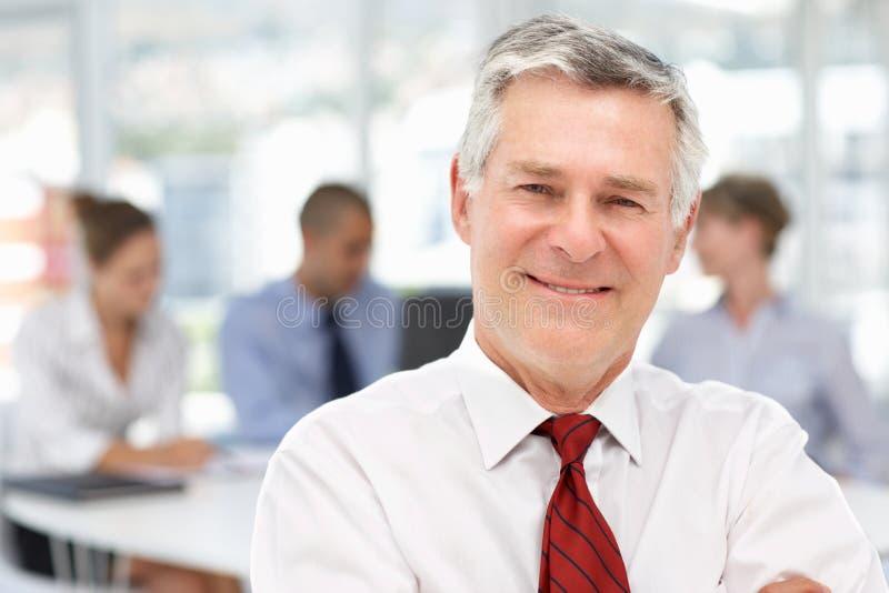Senior businessman. Smiling at camera stock images