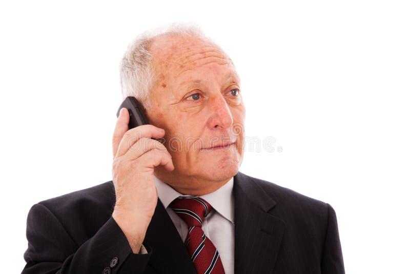 Download Senior businessman call stock image. Image of listen - 12995817