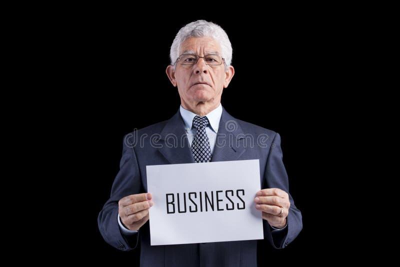 Senior businessman expert stock photos