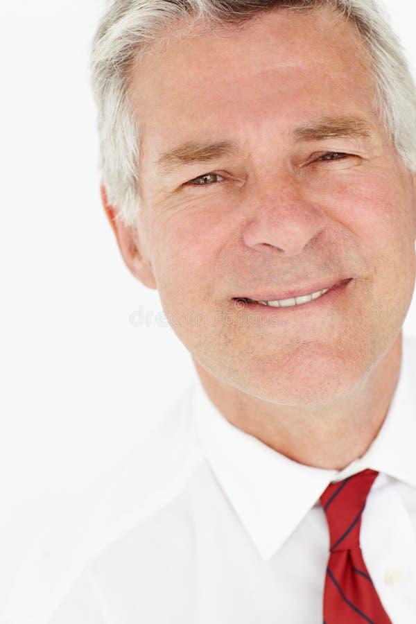 Senior businessman head and shoulders stock photos