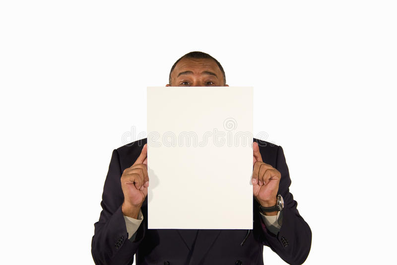 Download Senior Businessman Presenting A Picture Board Stock Image - Image: 13088885
