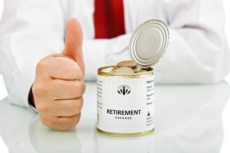Download Senior Businessman Retiring With Thumbs Up Sign Stock Image - Image: 28711997