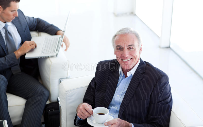 Download Senior Businessman Waiting For A Job Interview Stock Photos - Image: 12119953