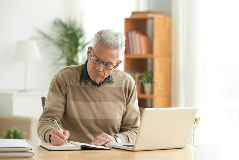 Working aged man royalty free stock photography