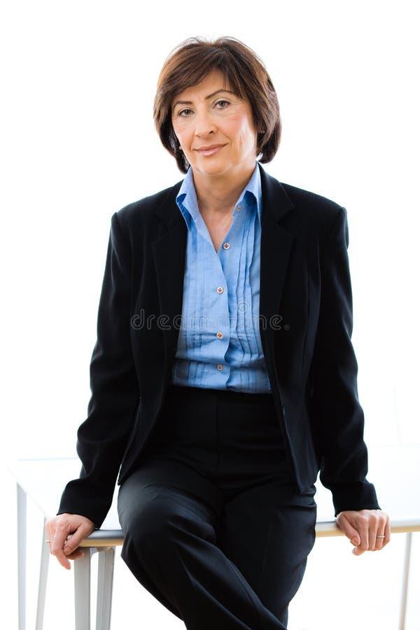 Senior businesswoman royalty free stock photography