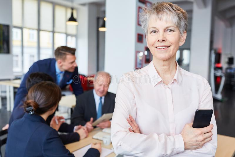 Senior businesswoman as manager stock images