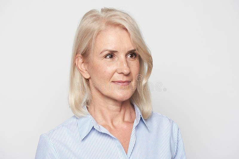 Senior businesswoman portrait isolated royalty free stock images