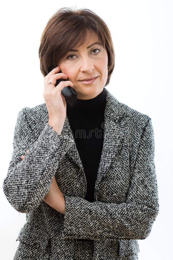Download Senior Businesswoman Talking On Mobile Stock Photo - Image: 8447994