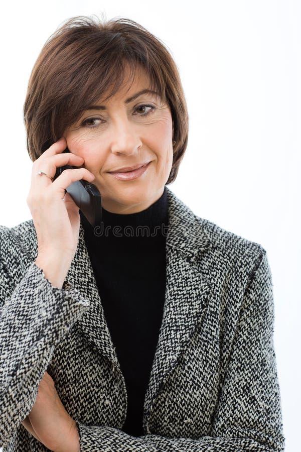 Senior Businesswoman Talking On Mobile Royalty Free Stock Photo