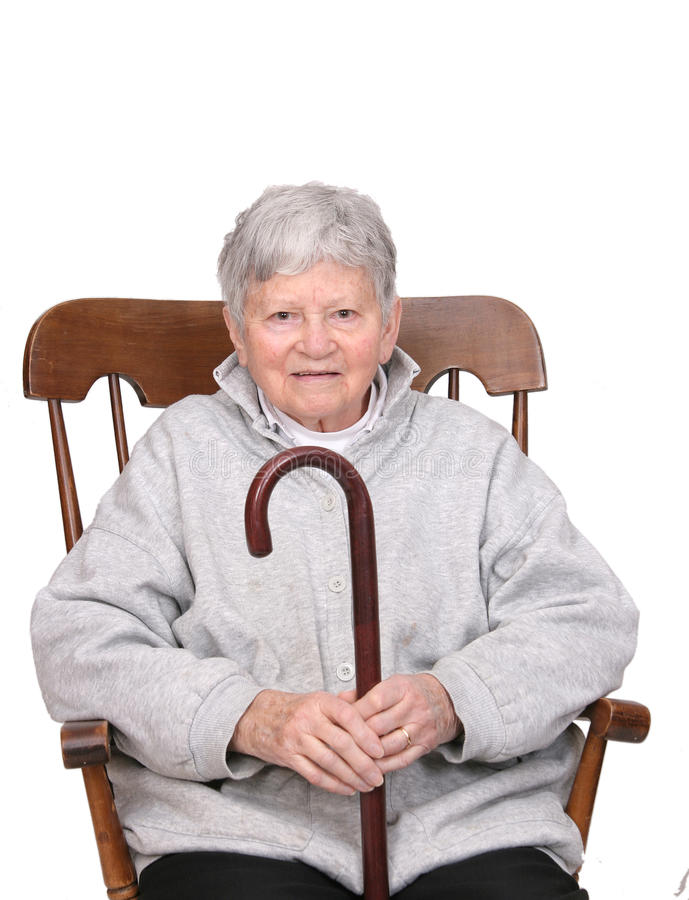 Download Senior with cane stock photo. Image of look, female, elderly - 13176260