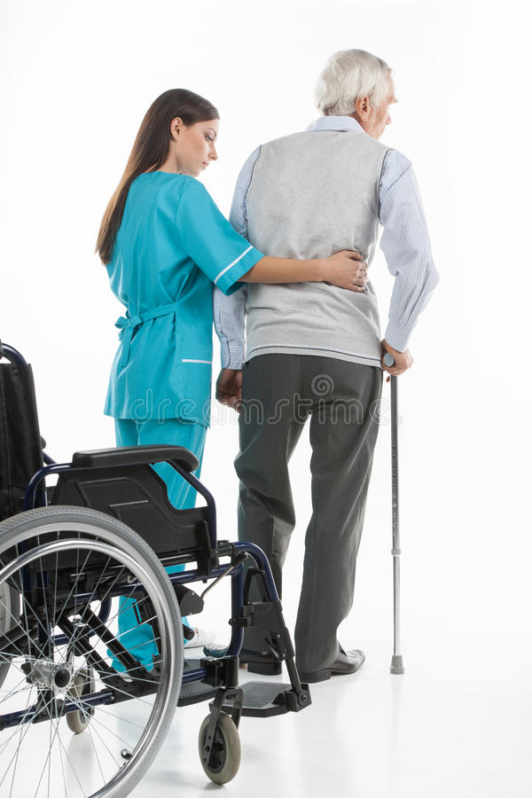 Senior care. royalty free stock photography