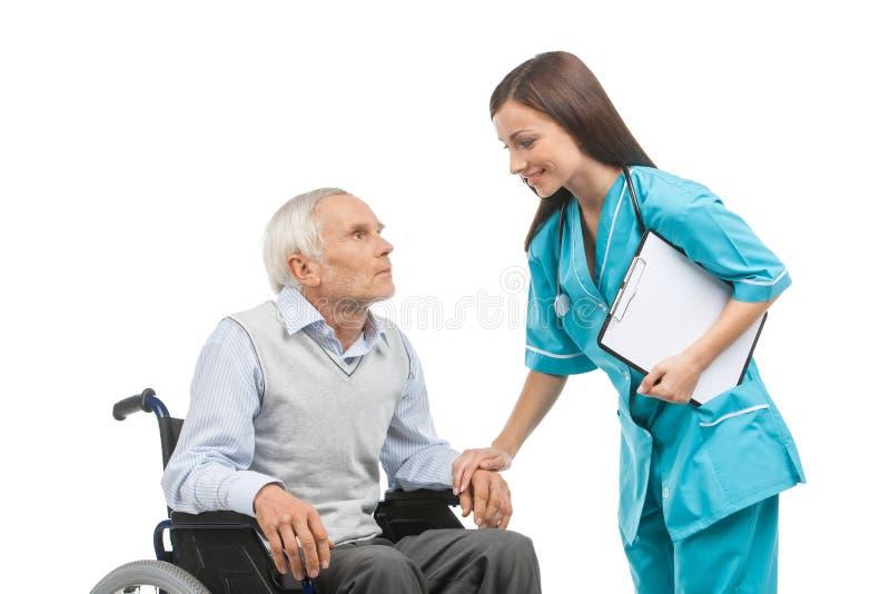 Senior care. royalty free stock photo
