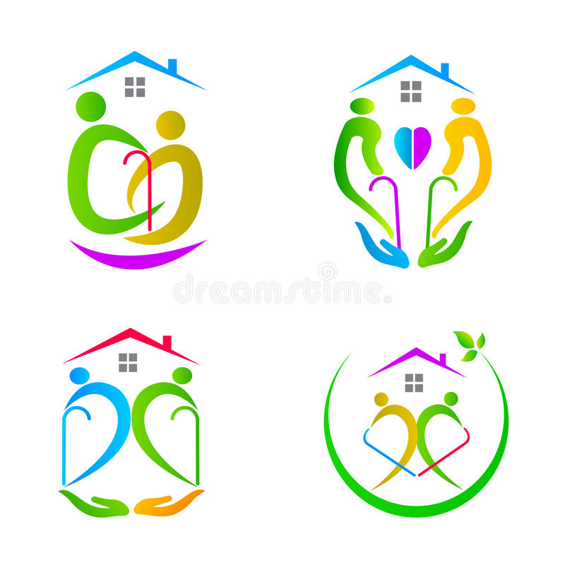 Senior care royalty free illustration