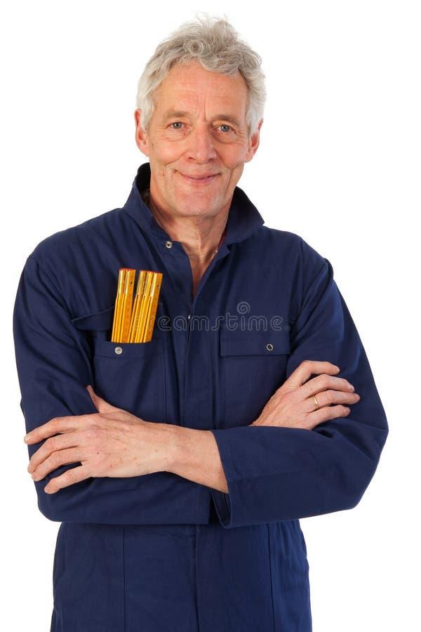 Download Senior carpenter stock photo. Image of cloths, senior - 16046884