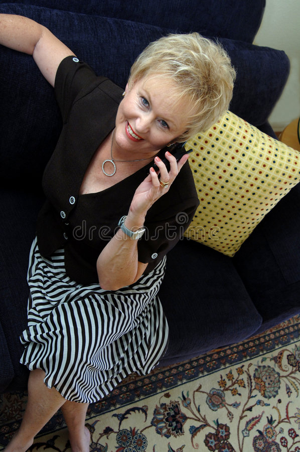 Download Senior on cell phone stock photo. Image of fashionable - 2550736