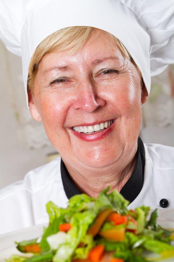 Senior chef stock photos