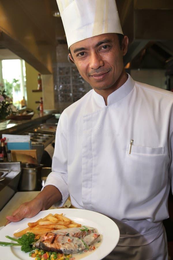 Senior chef royalty free stock photography