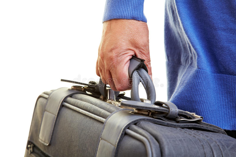 Download Senior Citizen Carrying Suitcase Stock Image - Image of detail, pensioner: 15954143