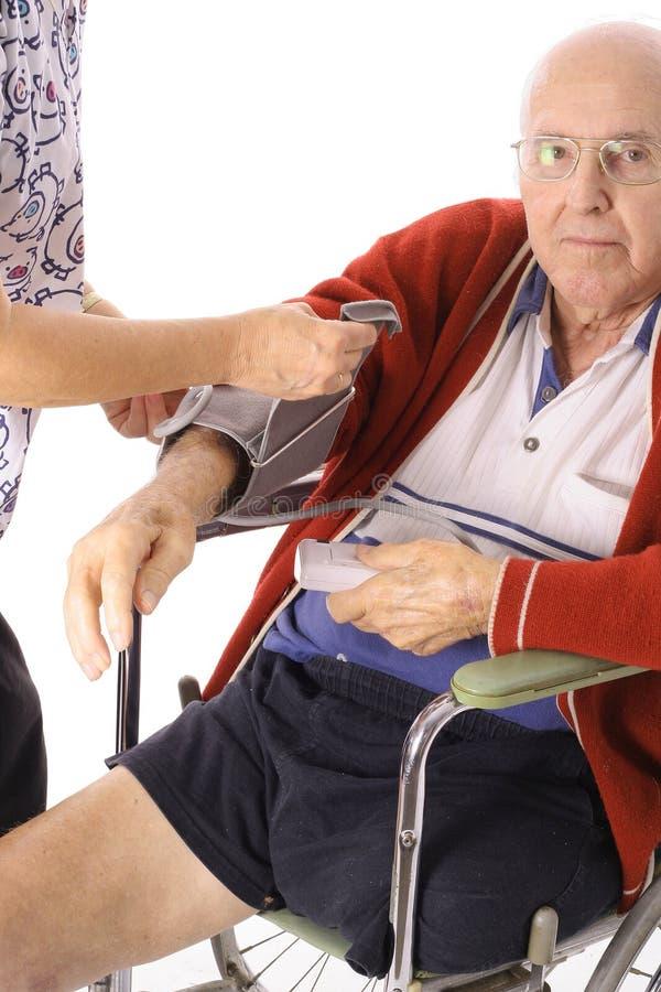 Senior citizen checkup stock photography