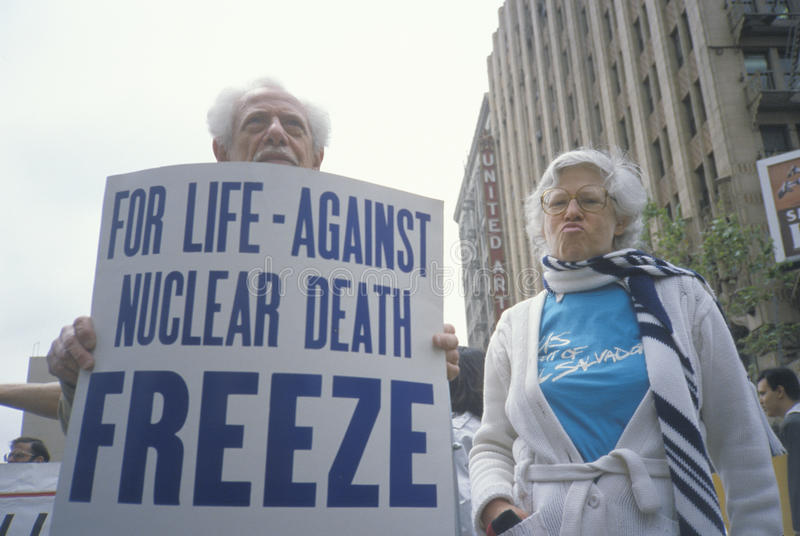 Download Senior Citizens Protesting Nuclear Warfare, Editorial Photography - Image: 26270782