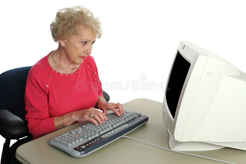 Download Senior Confused By Technology Stock Image - Image: 848821