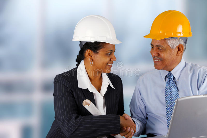 Senior Construction Foreman royalty free stock images