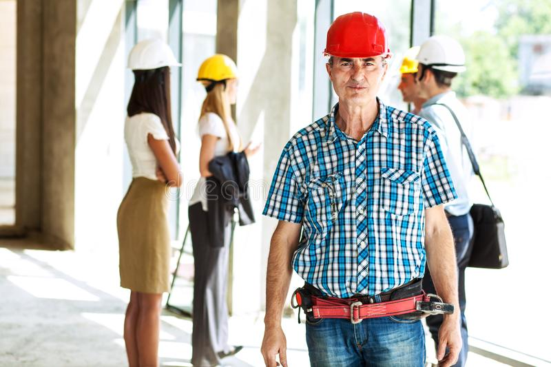 Senior construction manager. royalty free stock photo