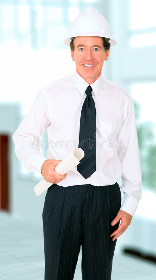 Download Senior Contractor Smiling stock photo. Image of blue, contractor - 7514176