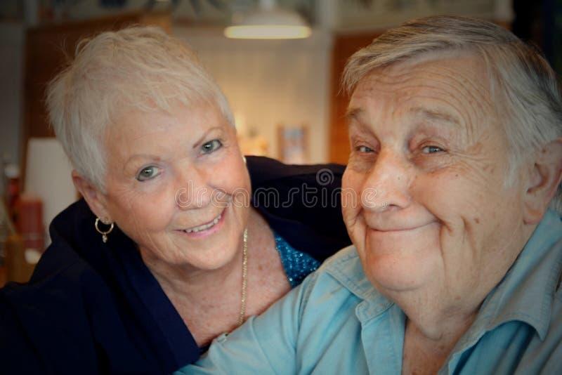 Senior couple. Smiling in love