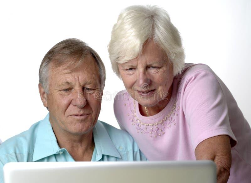 Download Senior couple stock image. Image of laptop, prospects - 14921403
