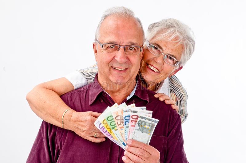 Download Senior couple stock image. Image of happy, money, head - 22304619