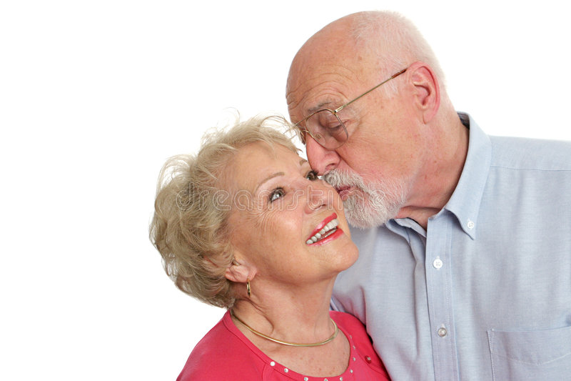 Senior Couple - Affectionate stock photography