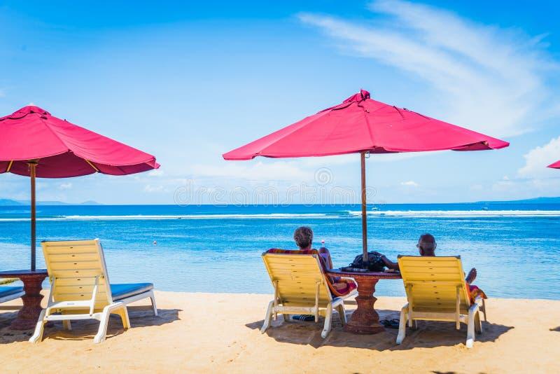 Senior Couple in Bali stock photos