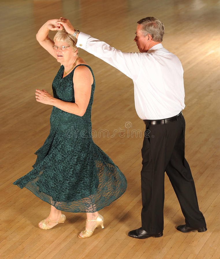 Senior couple ballroom dancing royalty free stock image