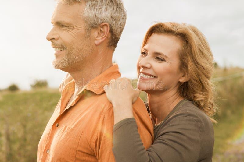 Senior couple carefree royalty free stock photo