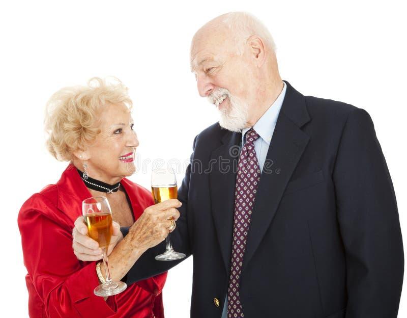 Download Senior Couple Champagne Toast Stock Photo - Image: 11127582