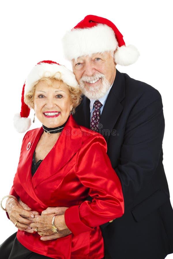 Senior Couple Christmas Portrait royalty free stock photo