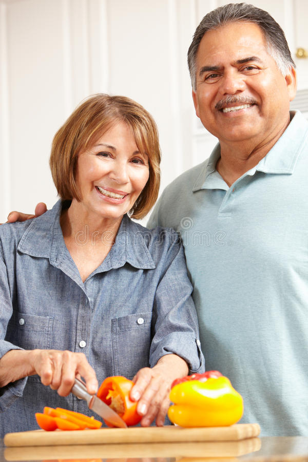 Download Senior couple cooking stock image. Image of dieting, losing - 21044021