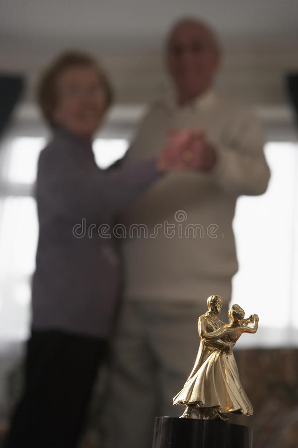 Download Senior Couple With Dance Trophy Stock Image - Image: 9388233