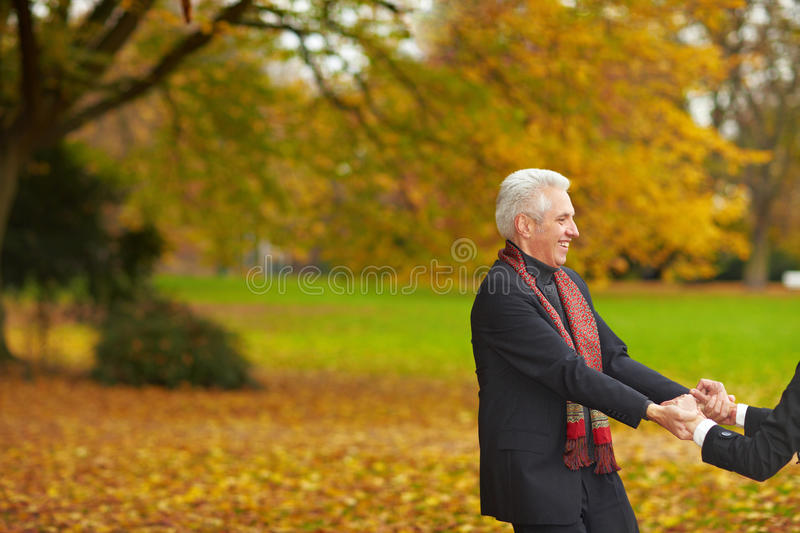 Download Senior Couple Dancing In A Park Stock Image - Image: 12914741