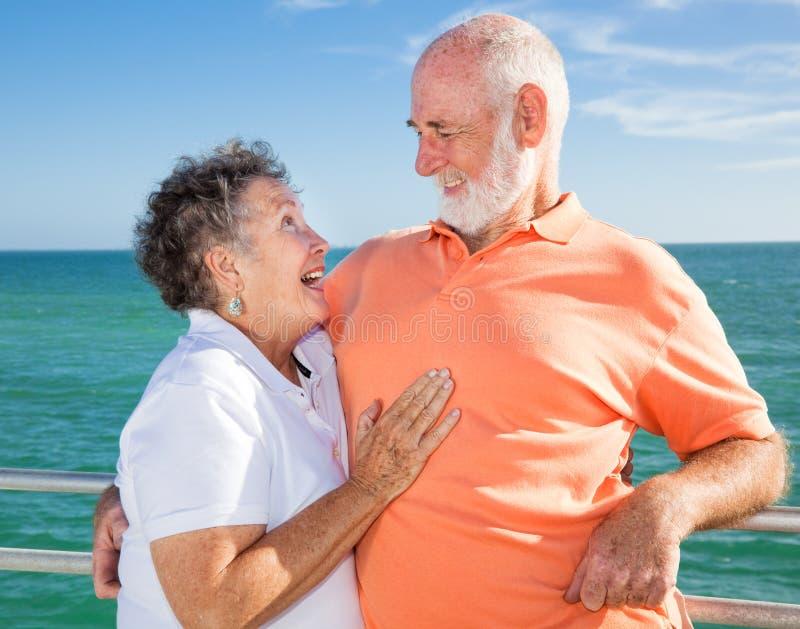 Download Senior Couple Flirting stock photo. Image of curly, gray - 8817710