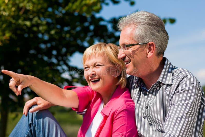 Download Senior Couple Flirting And Having Fun Royalty Free Stock Image - Image: 15583876