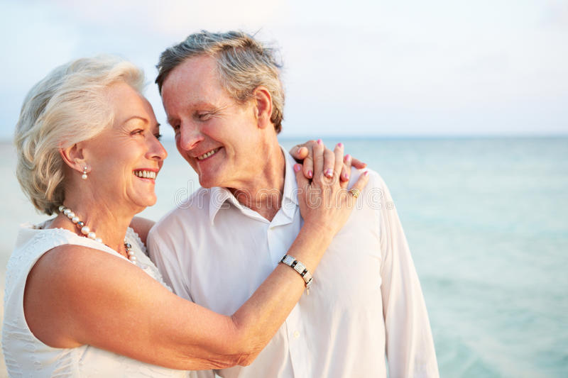 Download Senior Couple Getting Married In Beach Ceremony Stock Image - Image: 31697487