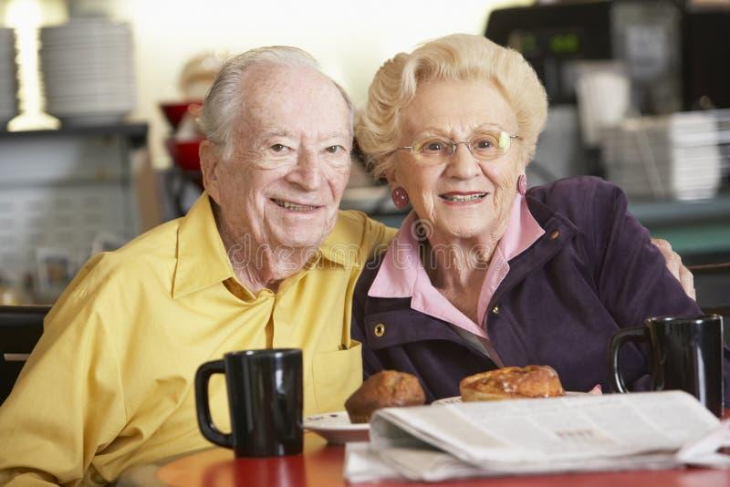 Download Senior Couple Having Morning Tea Together Stock Photo - Image: 9004020