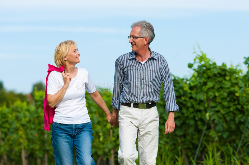 Senior Couple Having Walk Stock Photo