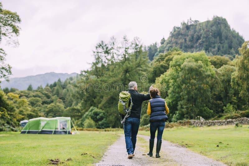 Senior Couple Hiking Together royalty free stock photos