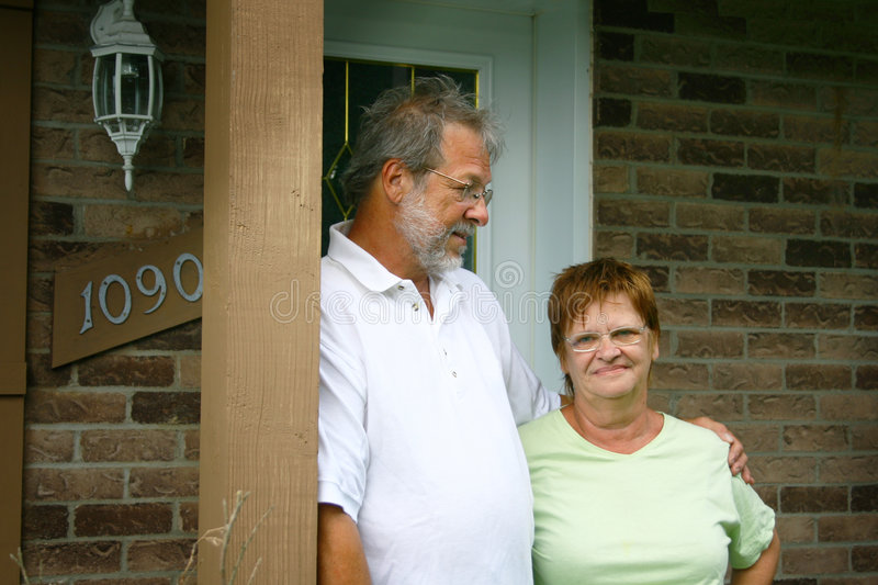 Download Senior couple at home stock image. Image of male, mature - 5926199