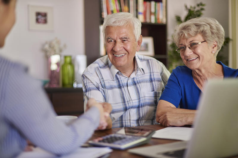 Senior couple at home royalty free stock image