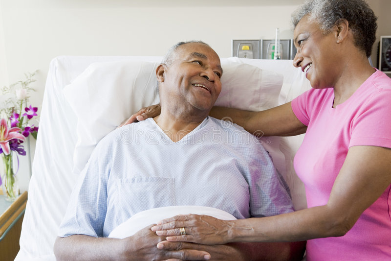 Download Senior Couple In Hospital Room Stock Image - Image: 6431323