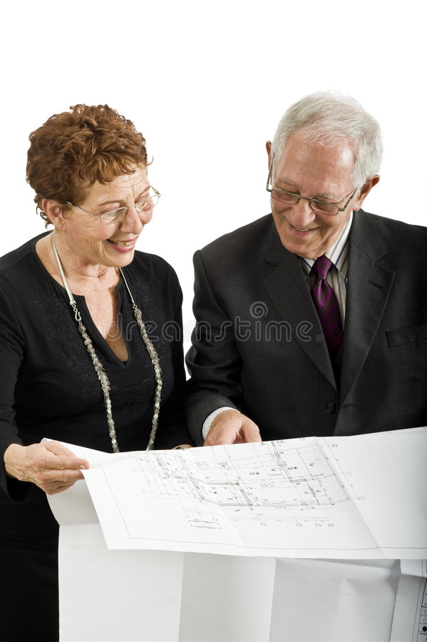 Download Senior Couple And House Plans Stock Photos - Image: 6361523